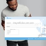 Impression de grand chèque géant en carton pour remise de prix